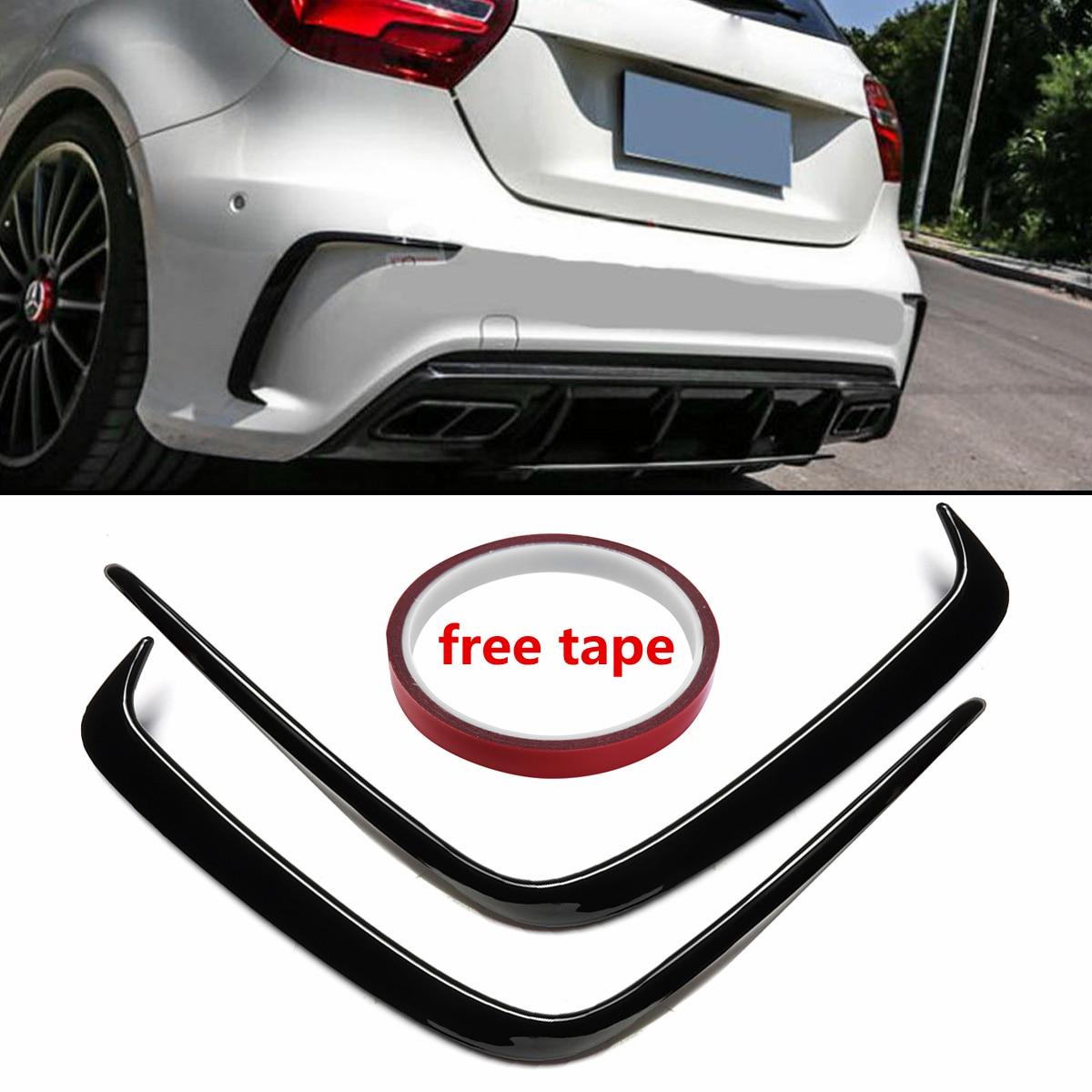 Aliexpress.com : Buy 1Pair Car Painted ABS Rear Bumper