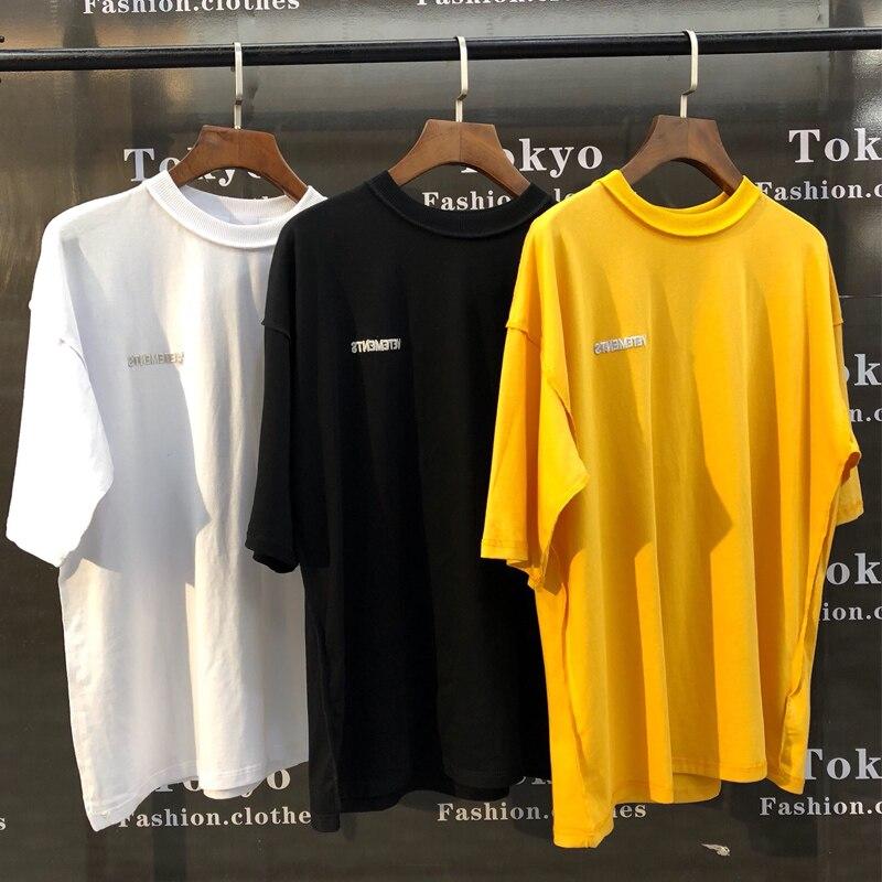 Il tempo è denaro MEN/'S PU Hip Hop Fashion Slogan Casual Manica Corta T-shirt Girocollo T