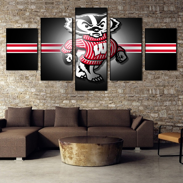free shipping framed painting modern europe wisconsin sports posters