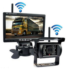 7 Inch Truck LCD Display And Camera HD Vehicle Reverse Parking 2.4GHz Wireless Waterproof Cameras For Trailer/Pickups/RV