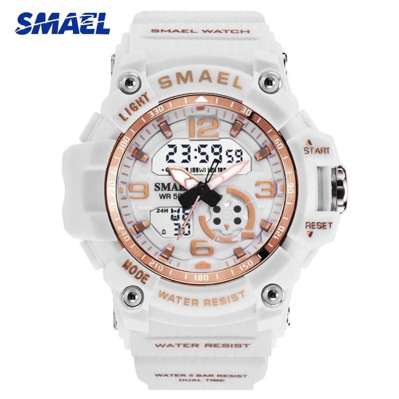 SMAEL Fashion Sport Ladies Watch Rose Gold Waterproof Digital Women Watches Quartz Students Girl Wristwatch Gift Reloj Mujer