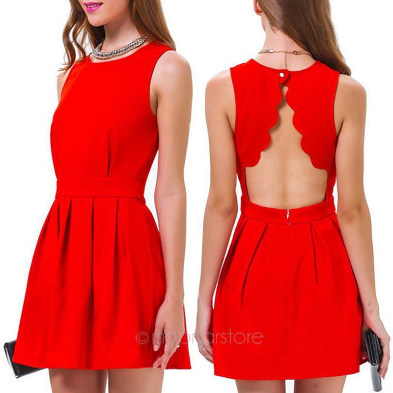 Vestidos cortos casuales rojos
