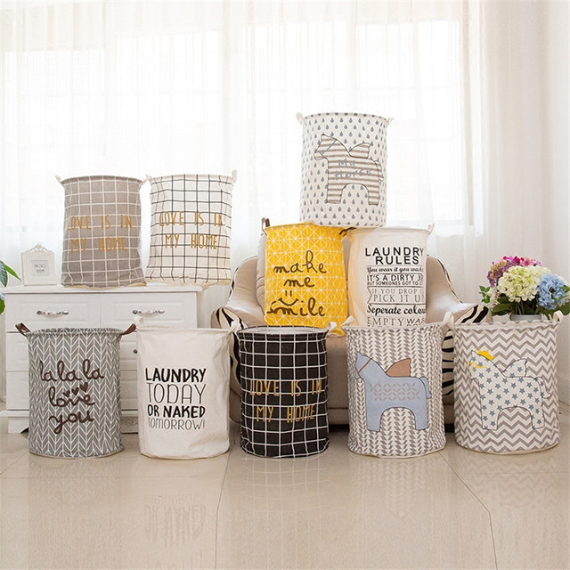 Large 40 50cm Folding Dirty Clothes Washing Laundry Basket Cartoon