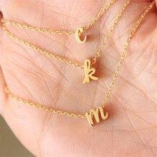 Крошечное оригинальное ожерелье изящная строчка ожерелье с надписью изящное именное имя подарок для мамы ребенка сестры