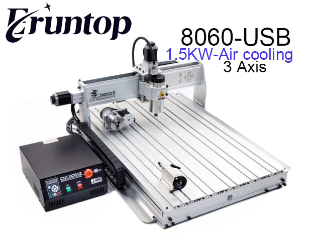 110/220VAC CNC 8060Z USB MACH3 Router Engraver Engraving Milling Drilling Cutting Machine 3d cnc router cnc 6040 1500w engraving drilling milling machine cnc cutting machine 110 220v