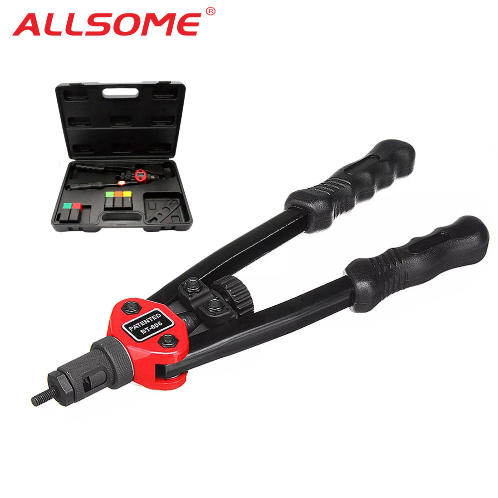 ALLSOME BT-605 Riveter Gun Hand Riveting Kit Nuts Nail Gun Household Repair Tools Auto Rivet Tool M3 M4 M5 M6 M8