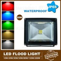 Hot Sale 20W LED Floodlight Warm White White Rgb Led Spotlight Super Bright AC85V 265V Outdoor
