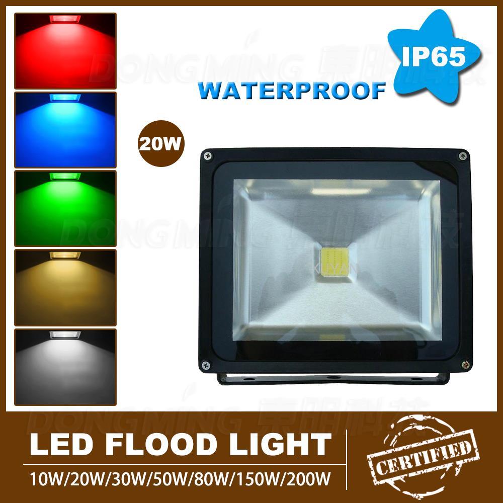 Hot sale 20W LED Floodlight warm White/white rgb led spotlight super bright AC85V-265V outdoor led flood