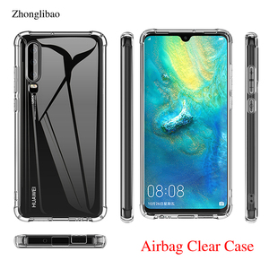 Airbag Silicone Case for Huawei P30 Mate 20 P20 Pro Lite Nova 3e 3i 4 Y6 Y7 Prime 2018 P Smart 2019 Clear TPU Soft Bumper Cover(China)