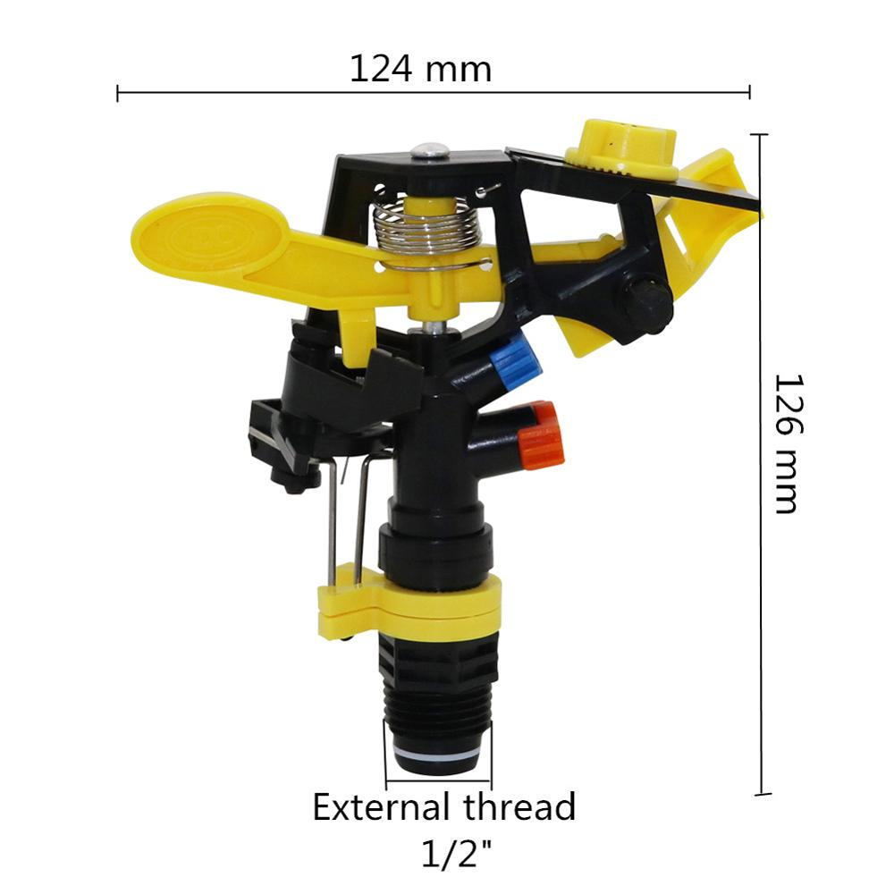 """1 Pc Double outlet Rocker nozzle 360 degrees rotary jet nozzle Agricultural garden Irrigation Sprinklers with 1 Pc Double outlet Rocker nozzle 360 degrees rotary jet nozzle Agricultural garden Irrigation Sprinklers with 1/2"""" male thread"""