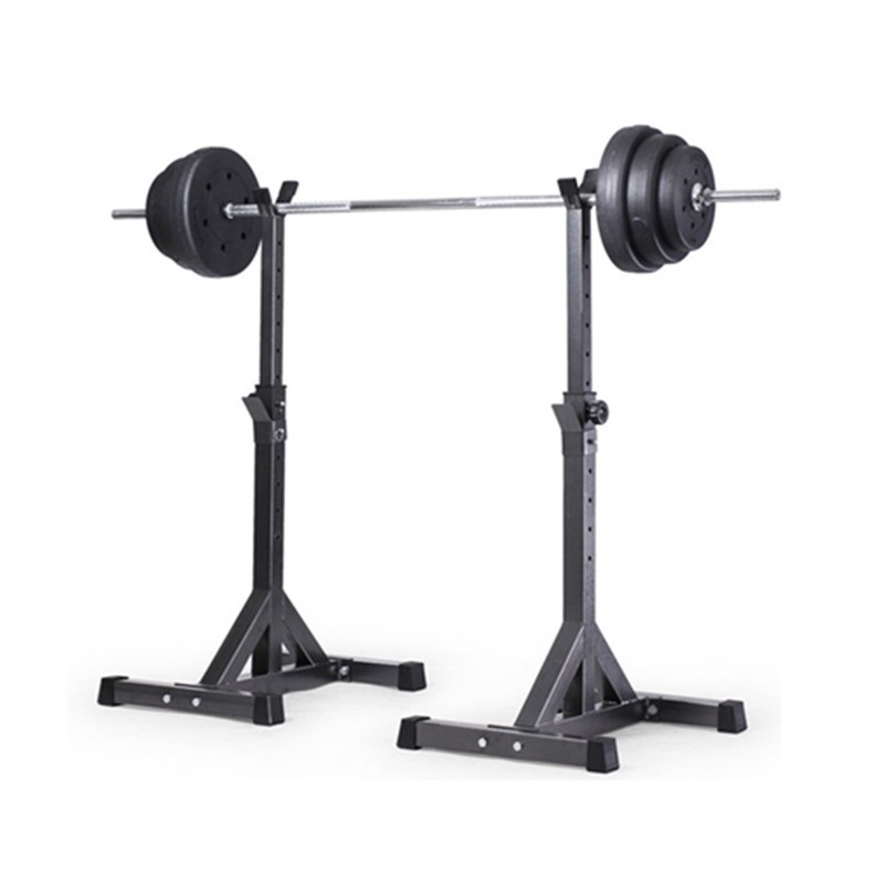 New-2pcs Adjustable Rack Standard Solid Steel Squat Stands Barbell 10#
