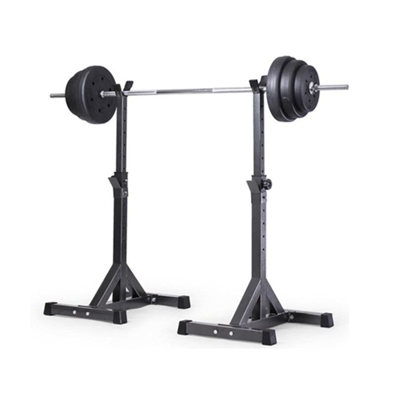 New-2pcs Adjustable Rack Standard Solid Steel Squat Stands Barbell 10#