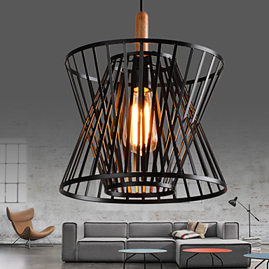 American Loft Iron Art Retro Pendant Light Fixtures Industrial Vintage Lighting For Living Dining Room Wood Hanging Lamp стоимость