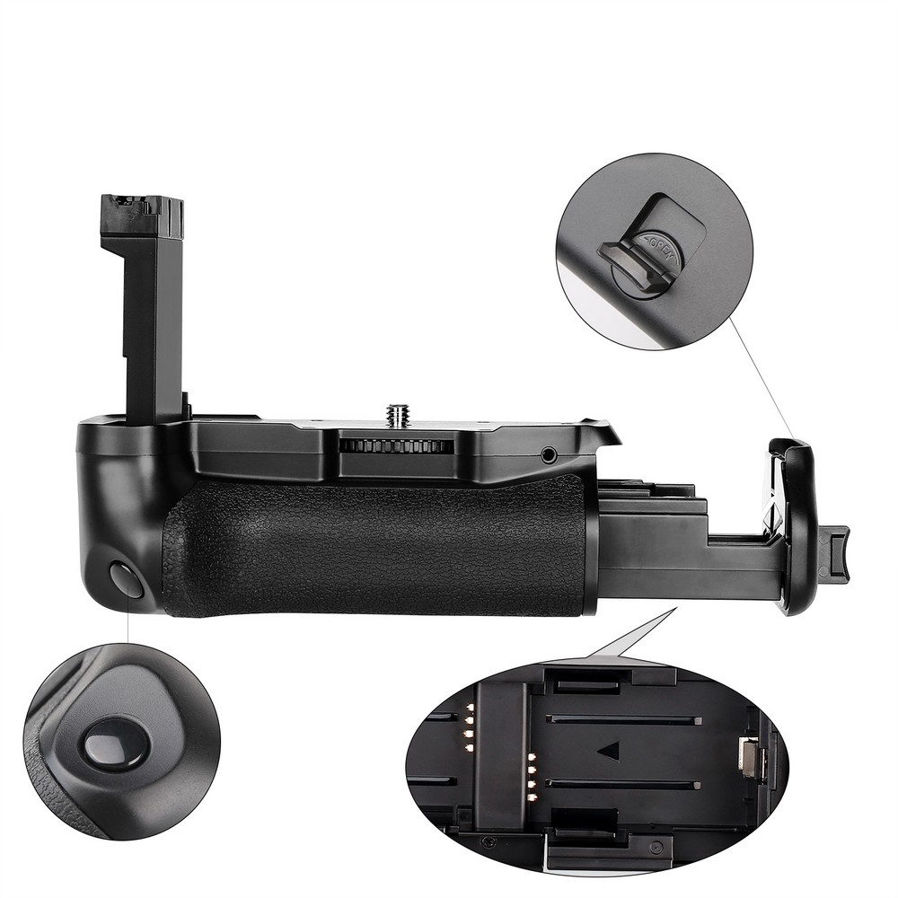 Poignée de batterie verticale multi-puissance spash pour Canon 800D rebelle T7i 77D Kiss X9i DSLR support de batterie pour appareil photo fonctionne avec LP-E - 3