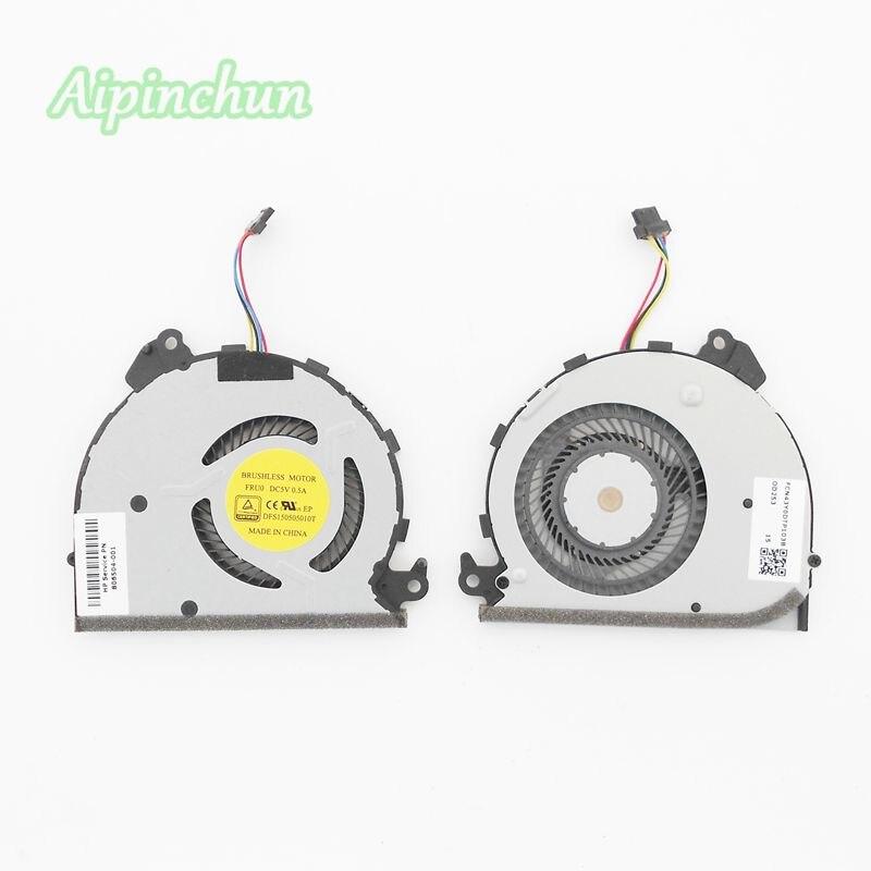 Aipinchun новый ноутбук Процессор охлаждения Cooler Вентилятор для hp сильнее X360 13-4003DX 806504-001 DFS150505010T