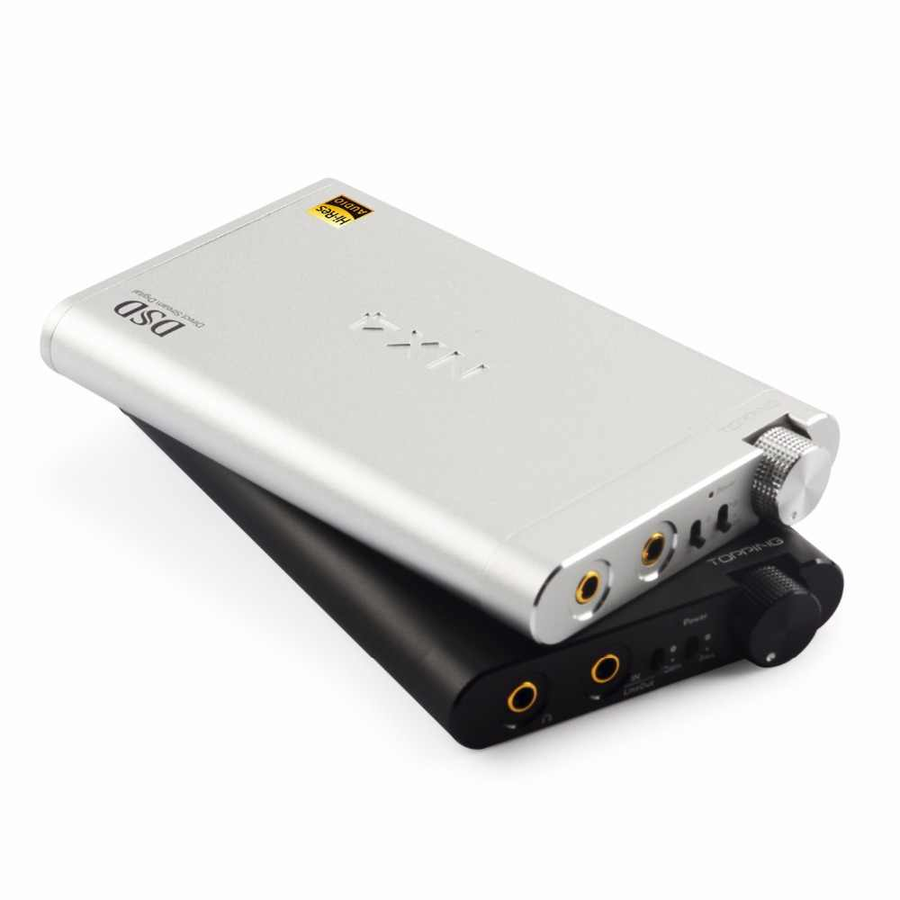 Baru Topping NX4 DSD DSD512 Demam Hifi Portable Xmos ES9038Q2M OPA2140 USB DAC Decoder Headphone Amplifier