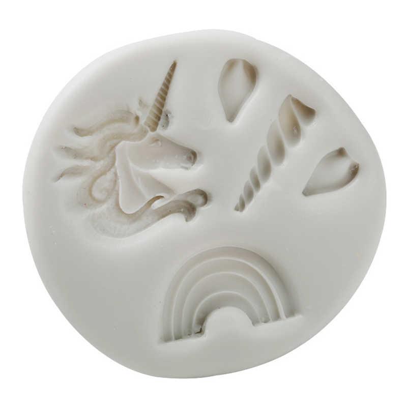Уникальный Единорог силиконовые формы форма для выпечки торт декоративное устройство для шоколада Gumpaste Плесень, Sugarcraft, кухонные гаджеты