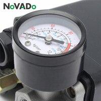 Air Compressor Pump Pressure 0 175 PSI Switch Control Valve 12 Bar 240V 4 port