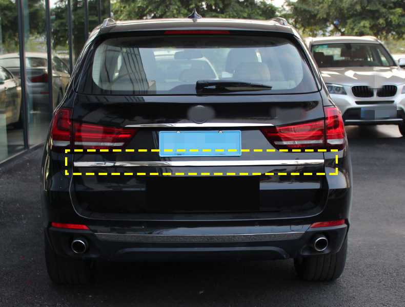 Car Rear Door Trunk Tailgate Cover Trim for BMW X5 F15,Tailgate Rear Door Bottom Cover Molding Stainless Steel Back Door Trim Sticker Car Styling Accessorie