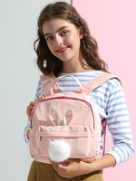 Princess sweet lolita bag Japanese sweet soft sister hearts rabbits backpack lovely colleges wind hair ball decorations LLD010
