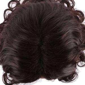 """Image 3 - S noilite 10 """"короткие курчавые синтетические волосы, парики, бразильские волосы Remy, афро волосы для черных женщин, натуральные волосы с челкой"""