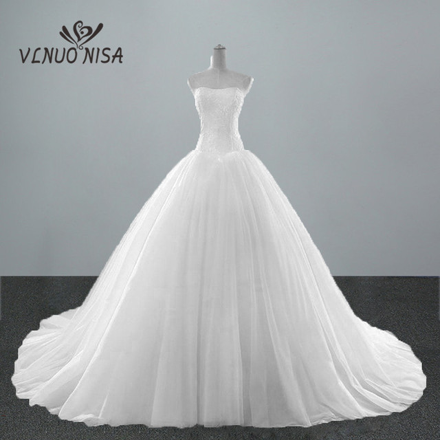 Aliexpresscom Buy New Fashion Simple Classic Ball Gown Off White