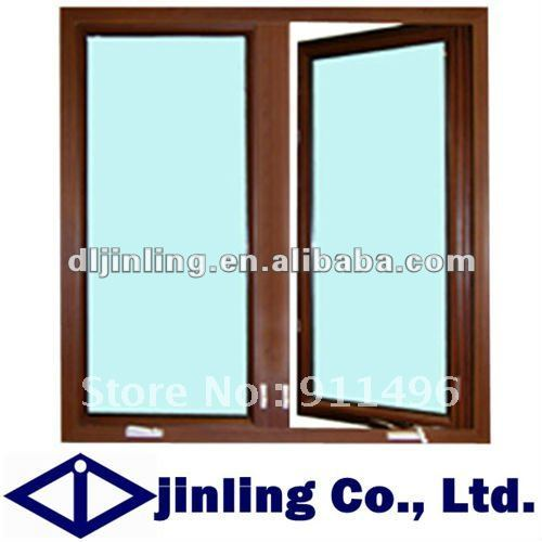 Buy wood grain modern aluminum window for Aluminium window frame manufacturers