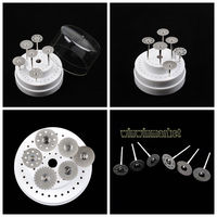 18pcs Dental Diamond Polishing Wheel Saw Disc Rotary Tool 10pcs Shank Mandrel 1pc 60 Holes Bur