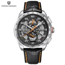 PAGANI design quartz leather skeleton waterproof watch luxury brand sports time men's watch Multifunction Stainless Steel Watch