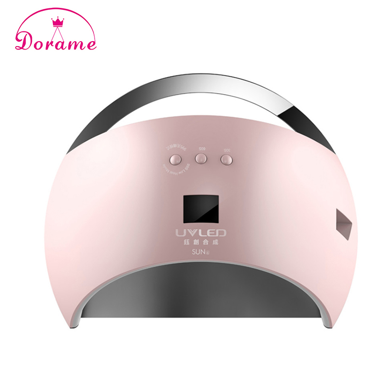 New style Portable SUN6 48W UV Lamp Nail Dryer for Nail Gel Unique Low Heat mode Time Setting Led Lamp For Nails with display new professional dc 12v 2a 24w uv led nail lamp nail dryer unique design intelligent induction three setting buttons an adapter