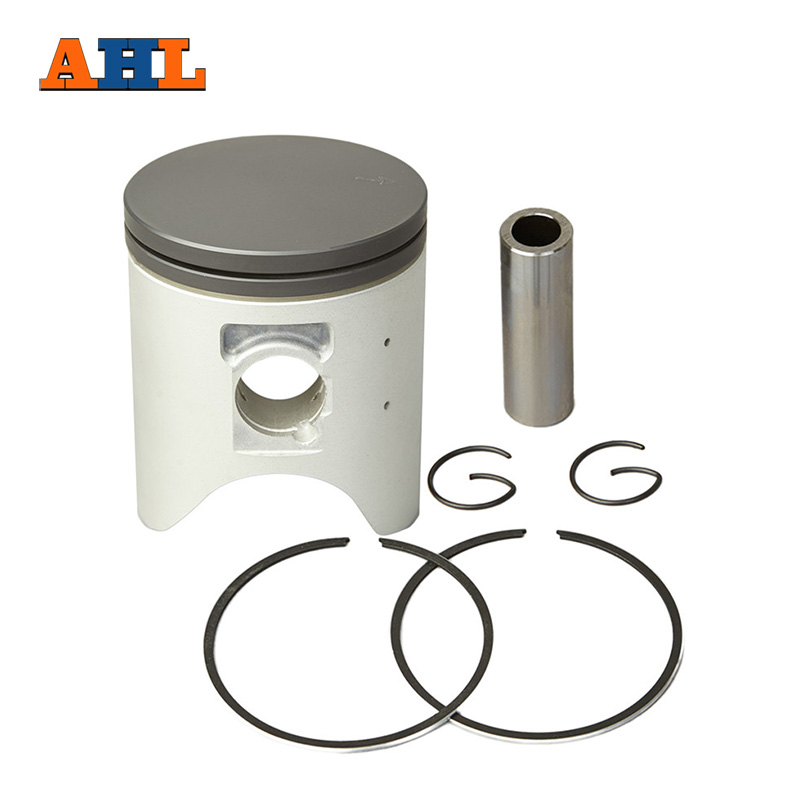 AHL Motorcycle Parts STD +25 +50 +75 +100 66mm ~ 67mm Piston with Pin Rings Clip Kit For HONDA CRM250 246 KAE MD24 CRM 250 image