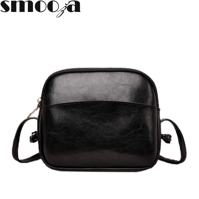 SMOOZA Fashion Small Bag Women Messenger Bags Designer Shoulder Soft PU Leather Crossbody Bag For Women Clutches Femininas Bolsa
