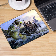 Mairuige 220*180*2mm Design Large Mouth Fish Gaming Mouse Mat  High Quality Non-slip  Durable Computer and Laptop Mouse Pad