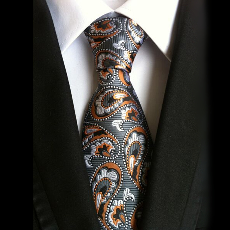 100% hedvábné kravaty prodej paisley pánské klasické kravata kravata 8 cm štíhlá kravata cravatta floreale gravatas žakárové seda lot