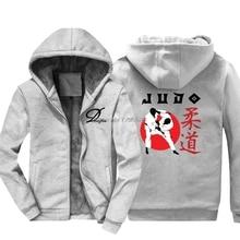 Толстовка Мужская Утепленная в стиле джудо, японская Военная Арта Ниппон, худи для самообороны, куртка в стиле хип хоп, топы в стиле Харадзюку