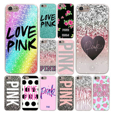 Lavaza AMOR ROSA Moda Caixa Do Telefone Rosa para Apple iPhone 4 4S 5C 5S SE 6 6 S 7 8 além de 10 X Xr Xs Max 7 6 Plus Plus(China)