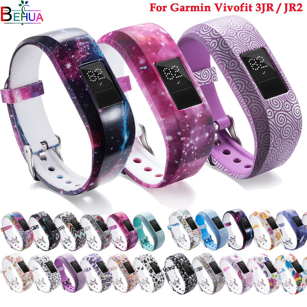 Silicone Watch Band For Garmin VivofitJR / JR2 Sport Silicone Wristband For Garmin Vivofit 3 Strap Bracelet Replacement Bands