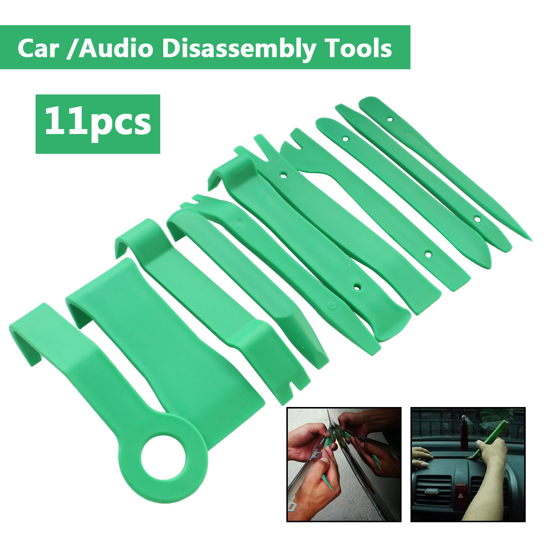 11PCS/SET Plastic Portable Auto Car Radiao Panel Trim Removable Tool Set DIY Car Interior Dashboard Removal Opening Tool Hot
