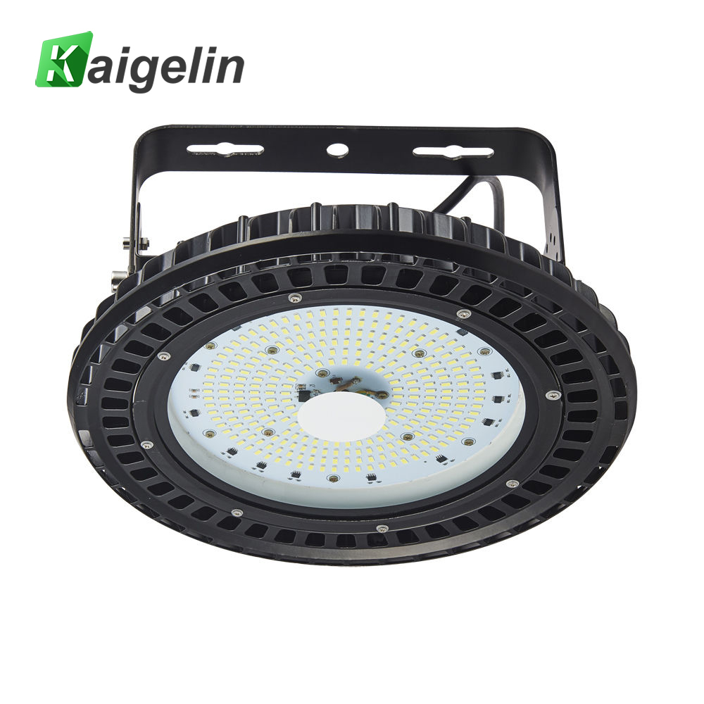 Kaigelin 100W 150W 200W 250W UFO LED High Bay Light 220V Highbay Light Mining Lamp Warehouse Exhibition Gym Industrial Lighting 150w ufo led high bay light 6000k 20000lm ip65 retrofit highbay lamp fixture led warehouse light