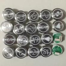 KONE лифт круглая кнопка/KONE лифт запасные части/KDS50/KDS300, кнопка из нержавеющей стали с брайлем