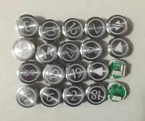 Image 1 - KONE lift ronde knop/KONE lift onderdelen/KDS50/KDS300, rvs knop met braille