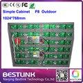 P8 exterior smd 4 de digitalização led módulo de cores de vídeo led controller card para parede de vídeo led rgb painel de led