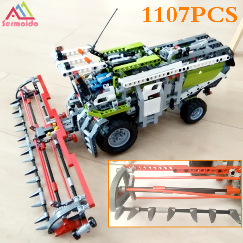sermoido 20041 1107Pcs Genuine Technic Series The Combine Harvester Set 8274 Educational Building Blocks Bricks Toys DBP172 конструктор lego technic combine harvester 8274
