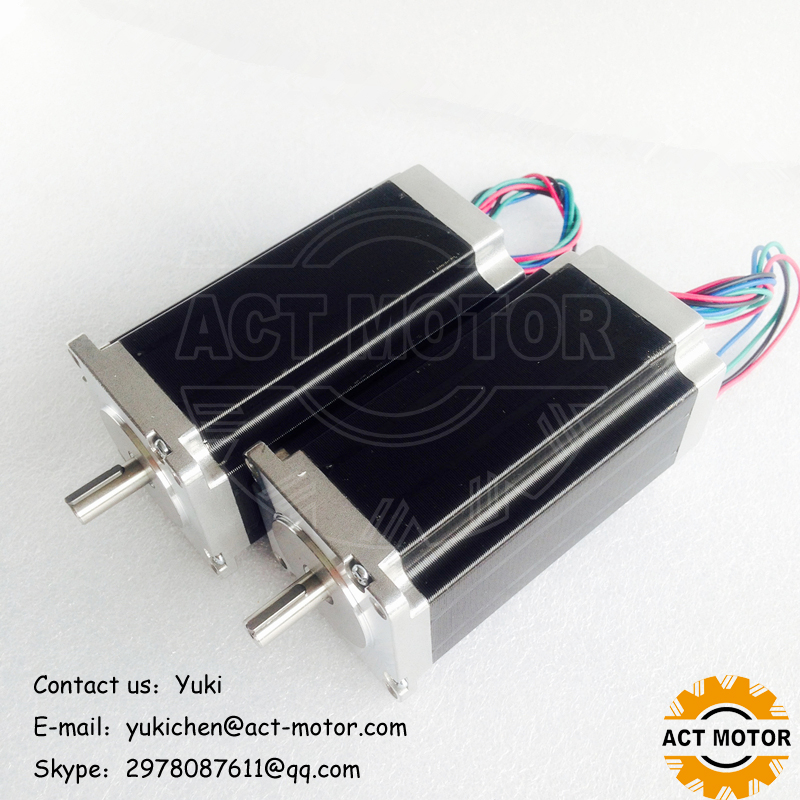 ACT Motor 2PCS Nema23 Stepper Motor 23HS2442J3 Single keyway Shaft 4-Lead 425oz-in 112mm 4.2A 8mm Diameter Bipolar DE US JP FreeACT Motor 2PCS Nema23 Stepper Motor 23HS2442J3 Single keyway Shaft 4-Lead 425oz-in 112mm 4.2A 8mm Diameter Bipolar DE US JP Free