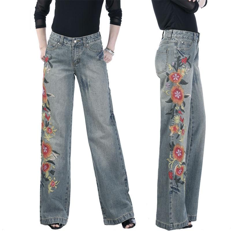bb29868d Primavera Otoño Moda Para Mujer pantalones Anchos de La Pierna de La ...