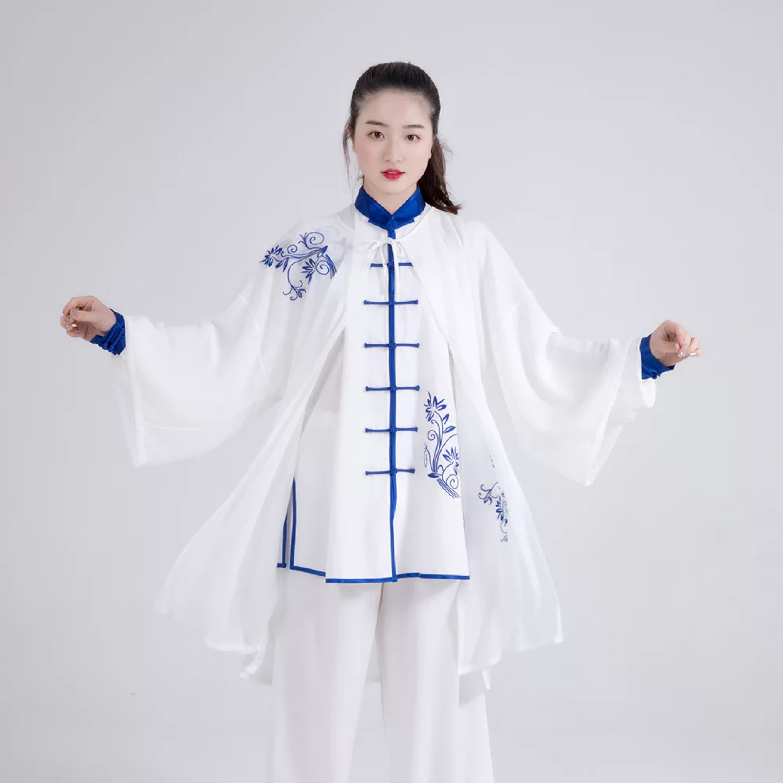 Bjj Kimono Jiu Jitsu Brazilian Chinese Traditional Professional Silk Material Wushu TaiChi Kung Fu Uniforms Kongfu Suit