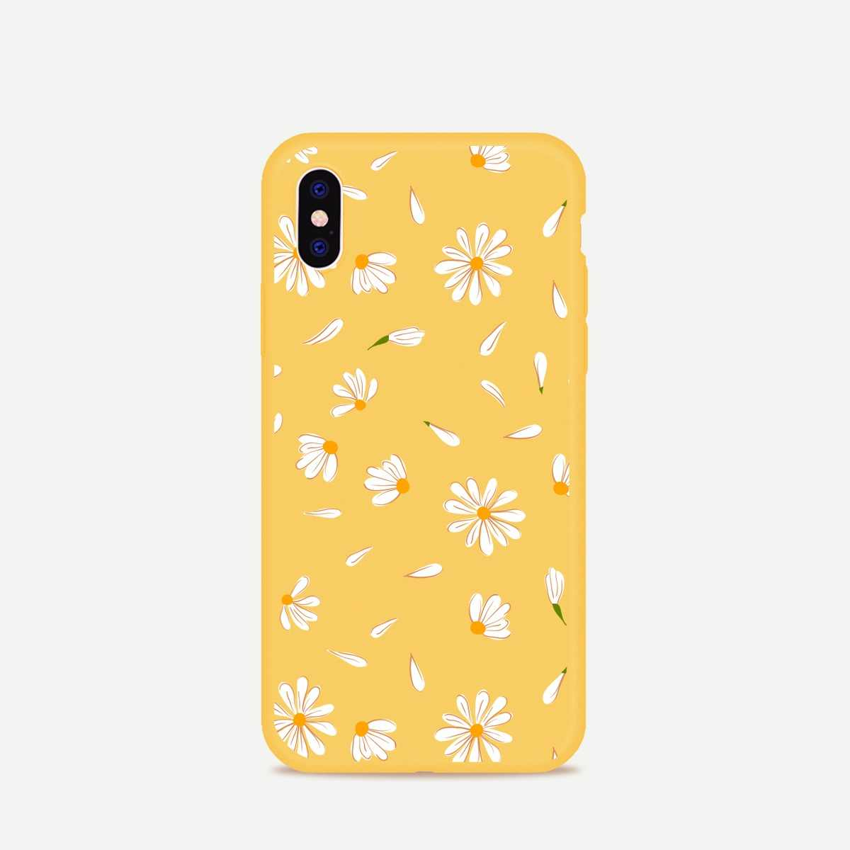 DIFFRBEAUTY Phone Cases For iPhone 7 XR XS MAX 8 6 X Plus 5S Case Luxury Daisy Cute Flower Summer Transparent Silicone Case