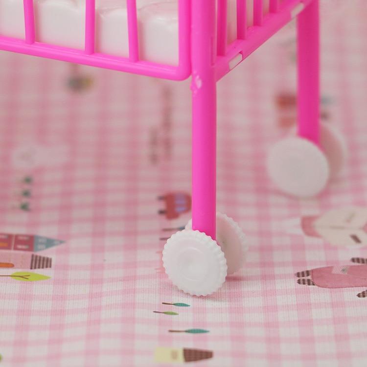 Pequeño dulce cuna para Barbie Girls muebles de la muñeca 1/6 Kelly ...