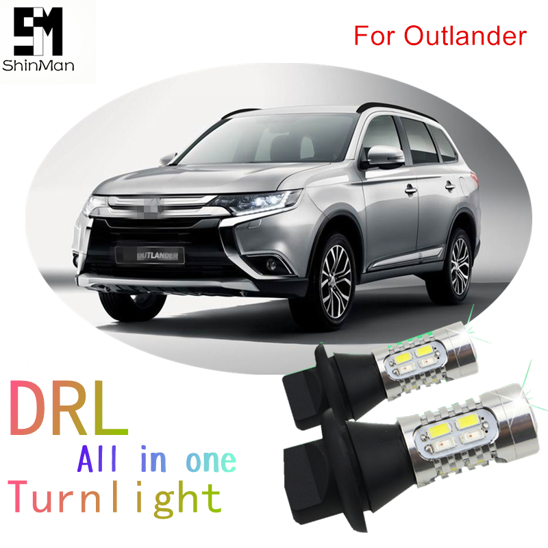 Shinman turn signal light For Mitsubishi Outlander PY21W BAU15S 1156 WY21w <font><b>T20</b></font> <font><b>LED</b></font> <font><b>DRL</b></font> Daytime Running Lights&Front Turn Signals image
