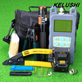 KELUSHI 20pcs Optical Power Meter with FC SC Connector +Fiber Cleaver SKL-6C Fiber Optic Cable Tester 10mW Visual Fault locater